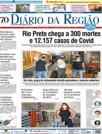 Capa do jornal Diário da Região 12/08/2020