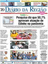 Capa do jornal Diário da Região 20/10/2020