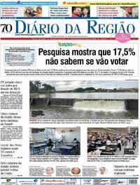 Capa do jornal Diário da Região 21/10/2020