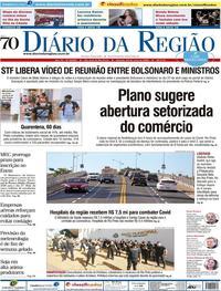 Capa do jornal Diário da Região 23/05/2020
