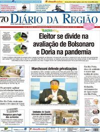 Capa do jornal Diário da Região 23/10/2020