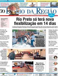 Capa do jornal Diário da Região 30/05/2020