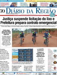Capa do jornal Diário da Região 14/05/2021
