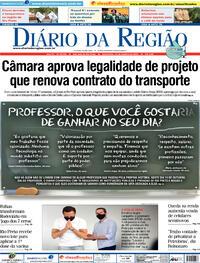 Capa do jornal Diário da Região 15/10/2021
