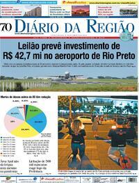 Capa do jornal Diário da Região 16/04/2021