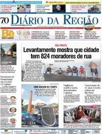 Capa do jornal Diário da Região 17/01/2021