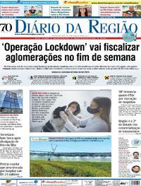 Capa do jornal Diário da Região 19/06/2021