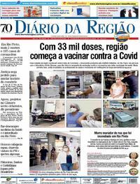 Capa do jornal Diário da Região 21/01/2021