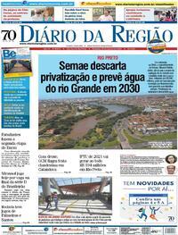 Capa do jornal Diário da Região 24/01/2021