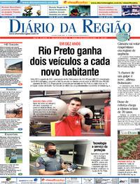 Capa do jornal Diário da Região 25/09/2021