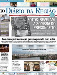 Capa do jornal Diário da Região 28/02/2021
