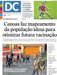 Capa do jornal Diário de Canoas 03/12/2020
