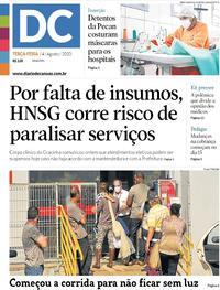 Capa do jornal Diário de Canoas 04/08/2020
