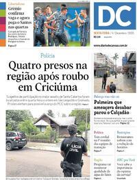 Capa do jornal Diário de Canoas 04/12/2020
