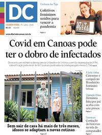 Capa do jornal Diário de Canoas 08/07/2020
