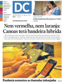 Capa do jornal Diário de Canoas 13/08/2020