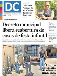 Capa do jornal Diário de Canoas 21/10/2020