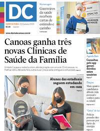 Capa do jornal Diário de Canoas 22/10/2020