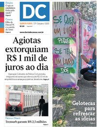 Capa do jornal Diário de Canoas 29/10/2020