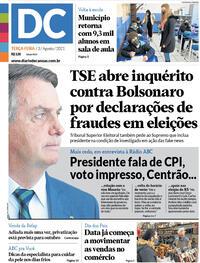 Capa do jornal Diário de Canoas 03/08/2021