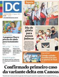 Capa do jornal Diário de Canoas 04/08/2021