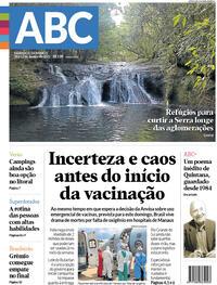 Capa do jornal Diário de Canoas 16/01/2021
