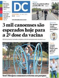 Capa do jornal Diário de Canoas 16/04/2021