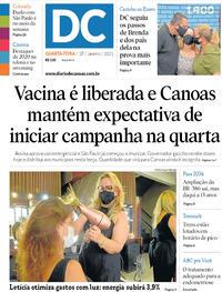 Capa do jornal Diário de Canoas 18/01/2021