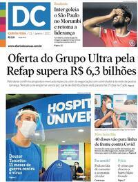 Capa do jornal Diário de Canoas 21/01/2021