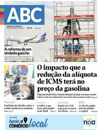 Capa do jornal Diário de Canoas 25/09/2021