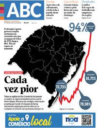 Capa do jornal Diário de Canoas 27/02/2021