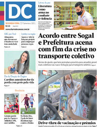 Capa do jornal Diário de Canoas 27/09/2021