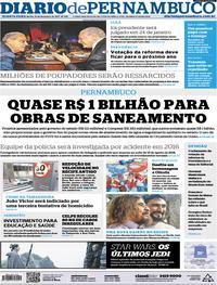 Capa Diario de Pernambuco 2017-12-13