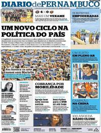 Capa Diario de Pernambuco 2018-10-15