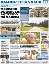 Capa Diario de Pernambuco 2018-08-17
