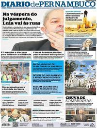 Capa Diario de Pernambuco 2018-01-23