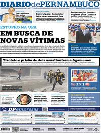 Capa Diario de Pernambuco 2018-02-23