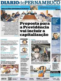 Capa Diario de Pernambuco 2019-01-09