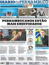 Capa Diario de Pernambuco 2019-01-11