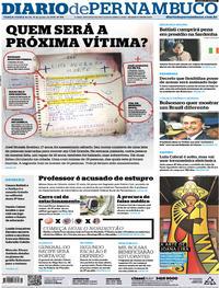 Capa Diario de Pernambuco 2019-01-15