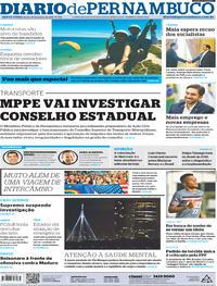Capa Diario de Pernambuco 2019-01-20