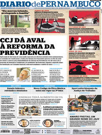 Capa Diario de Pernambuco 2019-04-25