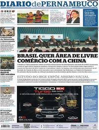 Capa Diario de Pernambuco 2019-11-14