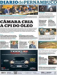Capa Diario de Pernambuco 2019-11-19