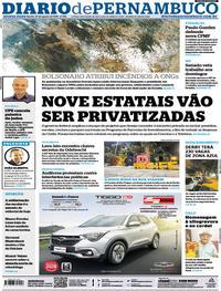 Capa Diario de Pernambuco 2019-08-22