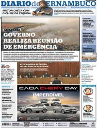 Capa Diario de Pernambuco 2019-08-23