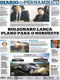 Capa Jornal Diario de Pernambuco 25/05/2019