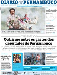 Capa do jornal Diario de Pernambuco 03/12/2020