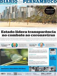 Capa do jornal Diario de Pernambuco 04/04/2020