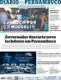 Capa do jornal Diario de Pernambuco 04/12/2020